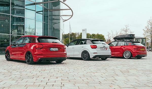 Tres Audi Q2 tuneados