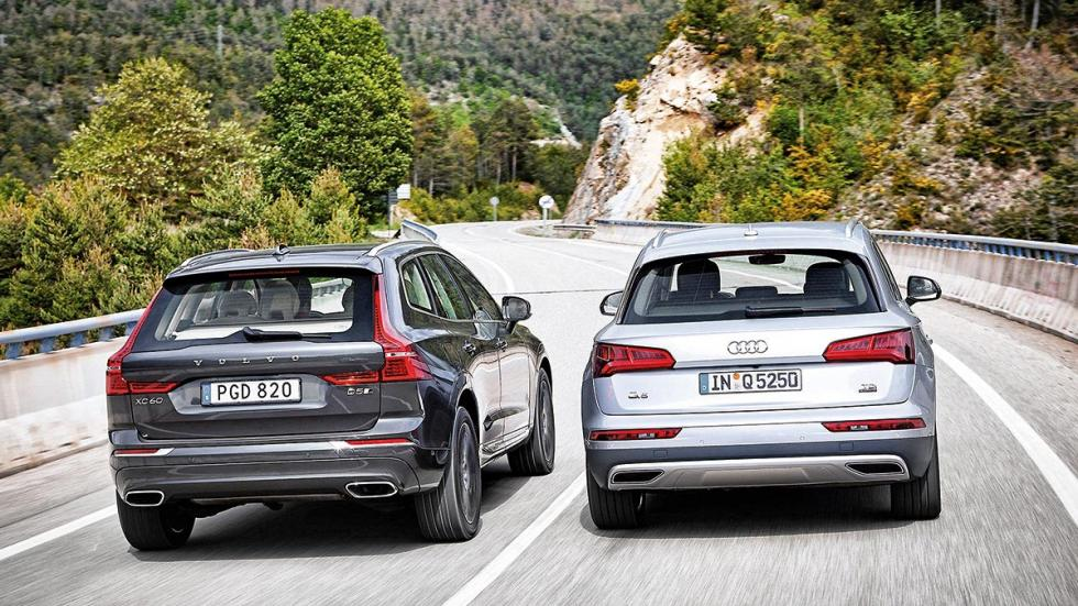 Audi Q5 2.0 TDI quattro contra Volvo XC60 D5 AWD