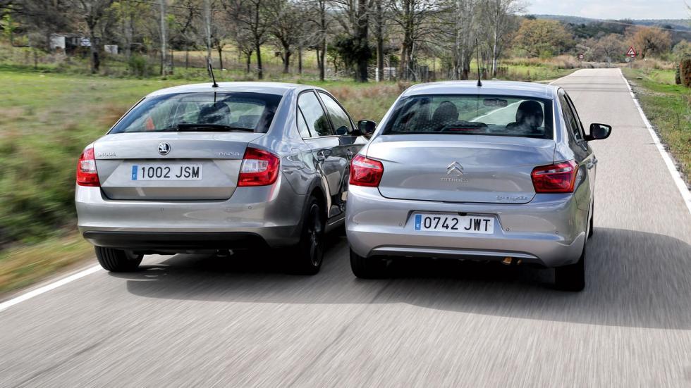 Citroën C-Elysée contra Skoda Rapid