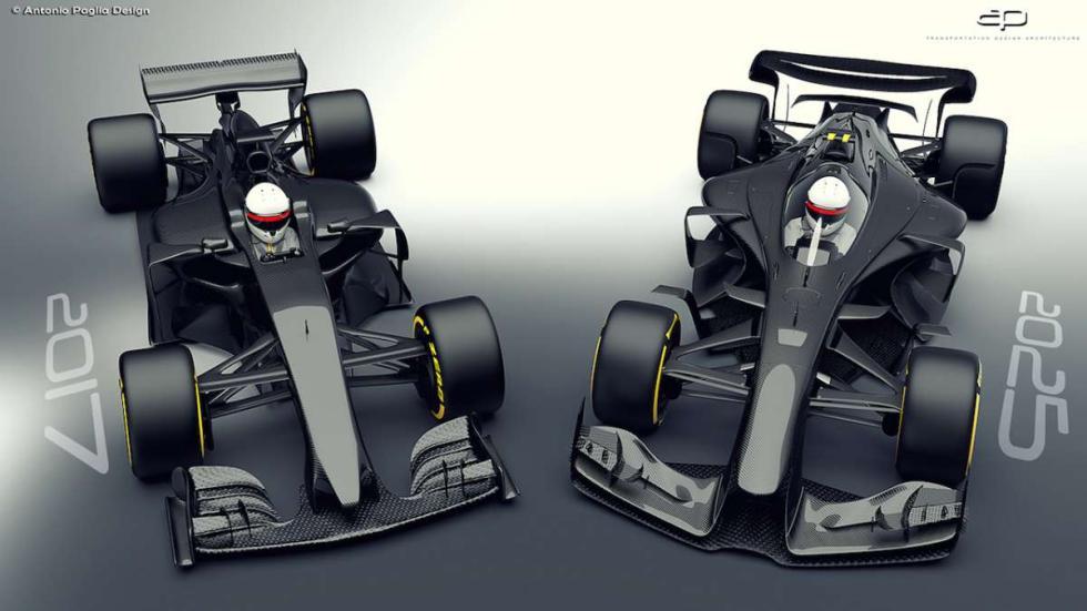 F1 2017 vs F1 2025