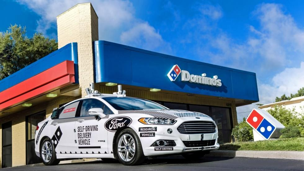 Ford coche autónomo Domino's Pizza