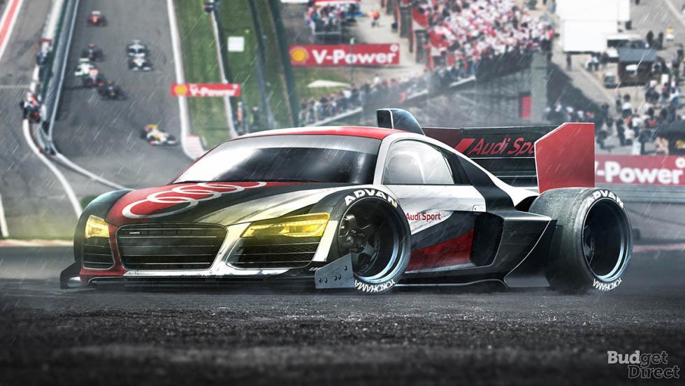 9 coches convertidos en monoplazas de fórmula 1 - Audi R8
