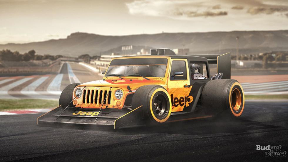 9 coches convertidos en monoplazas de fórmula 1 - Jeep Wrangler