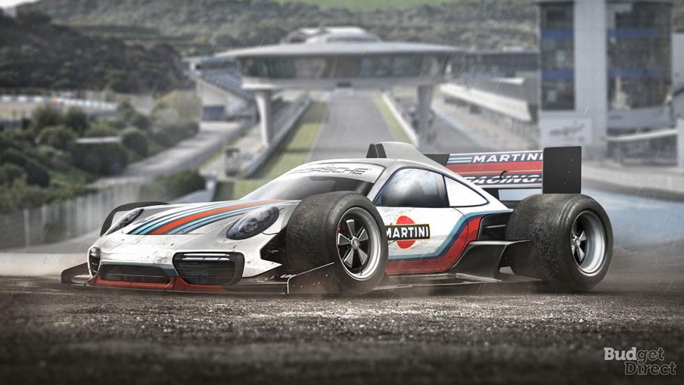 9 coches convertidos en monoplazas de fórmula 1 - Porsche 911