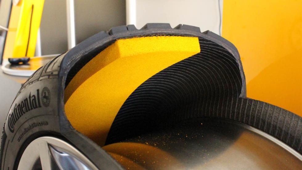La banda Contisilent de los neumáticos Continental PremiumContact 6
