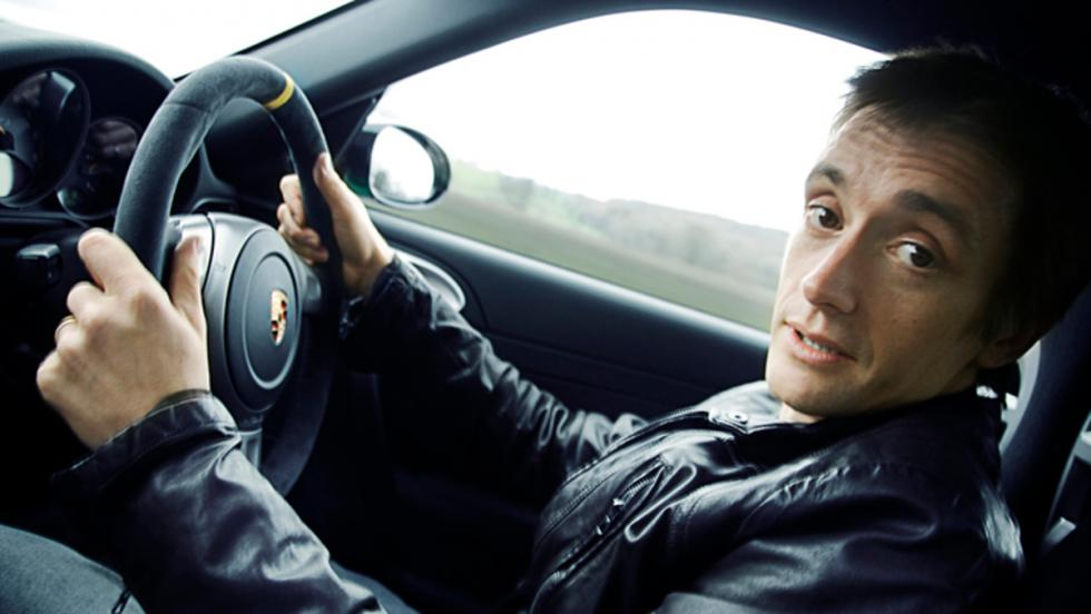 Hammond al volante de un Porsche