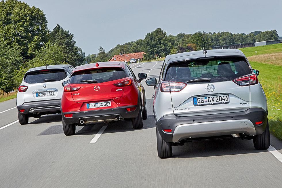 Opel Crossland X vs Mazda CX-3 y Renault Captur