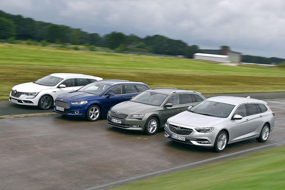 Opel Insignia Sports Tourer vs Ford Mondeo, Skoda Superb y Renault Talisman