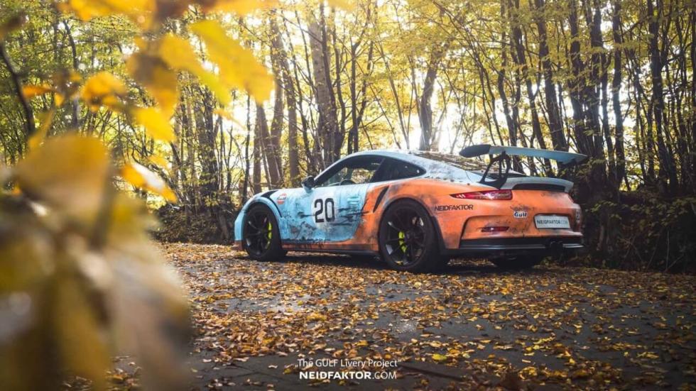 Porsche 911 GT3 RS Gulf desgastado