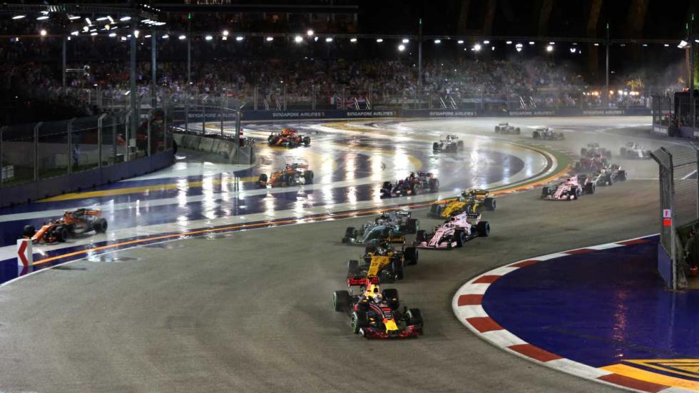 Salida del GP de Singapur 2017