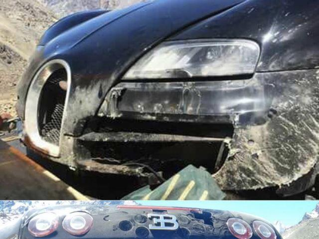 Accidente Bugatti