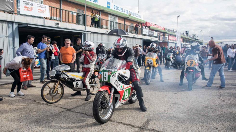 En el Espíritu del Jarama, las motos clásicas tienen un sitio preferente