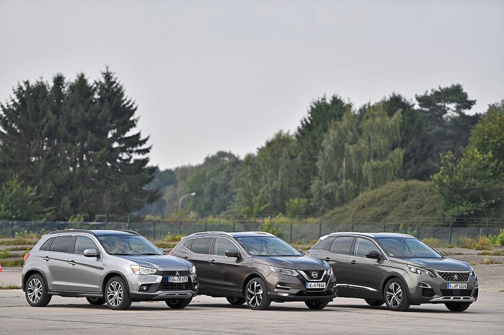 Nissan Qashqai vs Mitsubishi ASX y Peugeot 3008