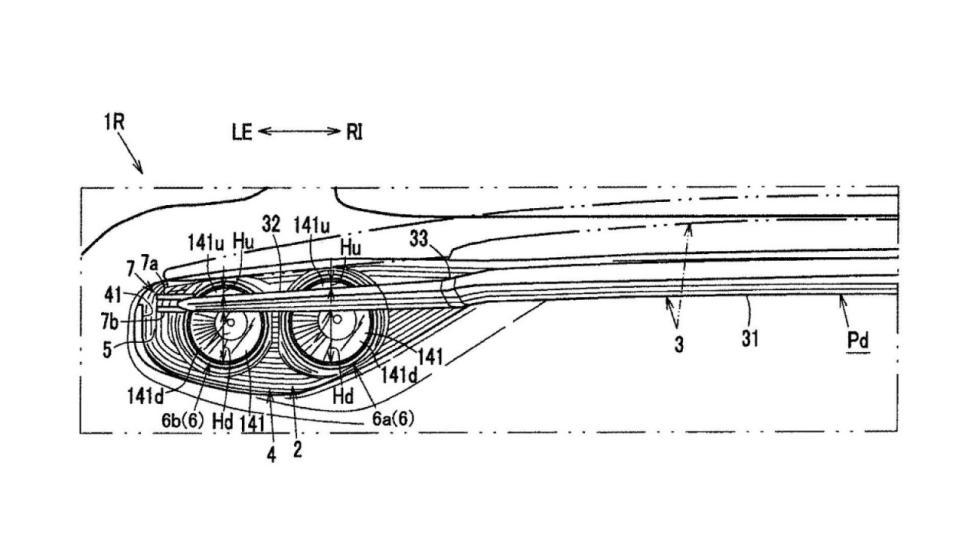 Patentes alerón integrado Mazda