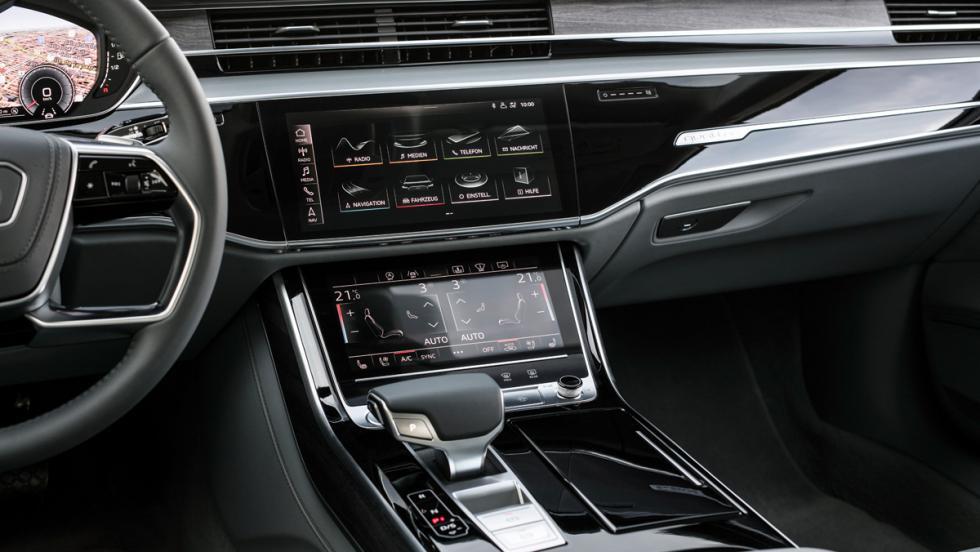 Prueba Audi A8 2017 (pantallas)