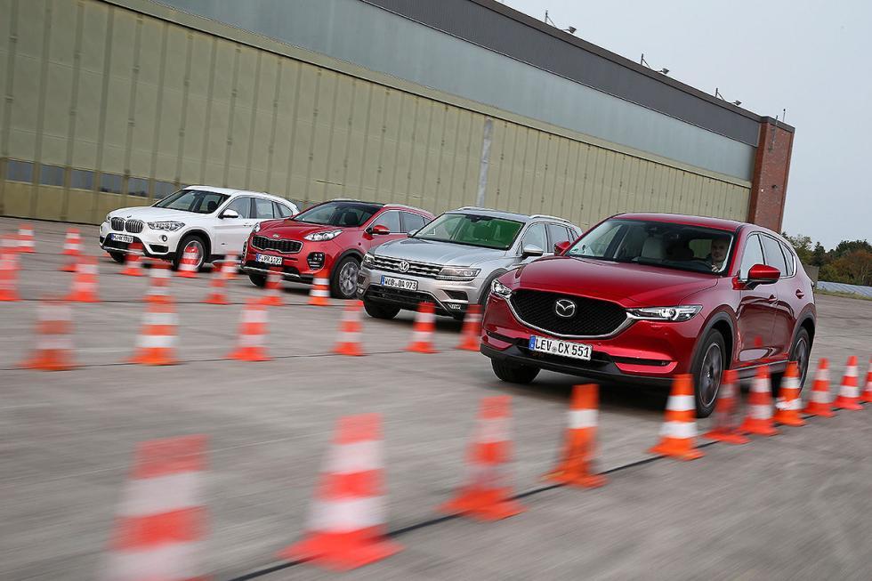 Comparativa del Mazda CX-5 vs Kia Sportage, VW Tiguan y BMW X1