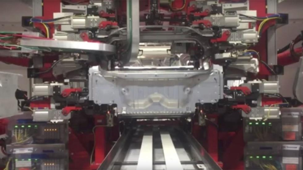 Fabricación del Tesla Model 3 lujo tecnología