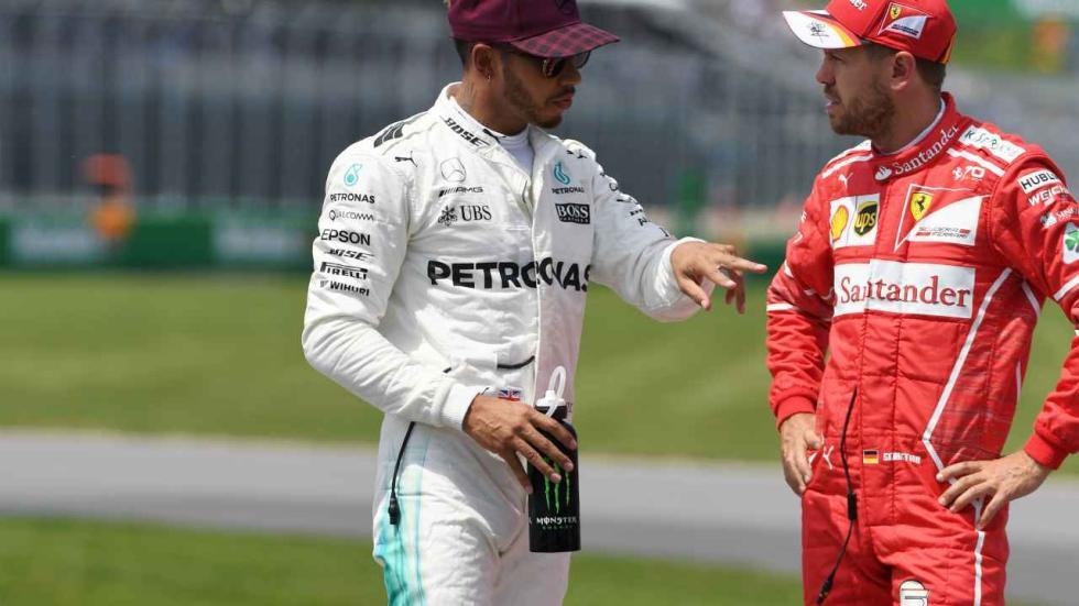 Lewis Hamilton y Sebastian Vettel