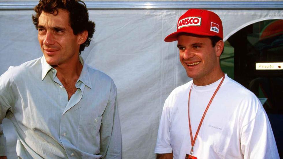 Rubens Barrichello y Ayrton Senna