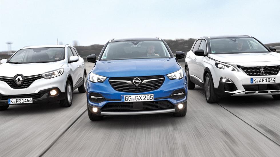 Opel Grandland X vs Peugeot 3008 y Renault Kadjar