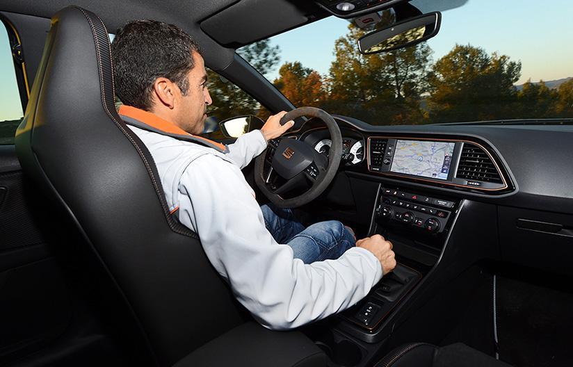 Jordi Gené all volante del Seat León Cupra R