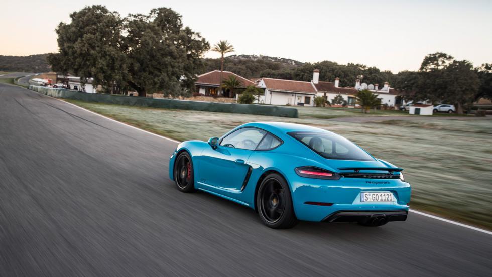 Prueba Porsche 718 Cayman GTS (curva)