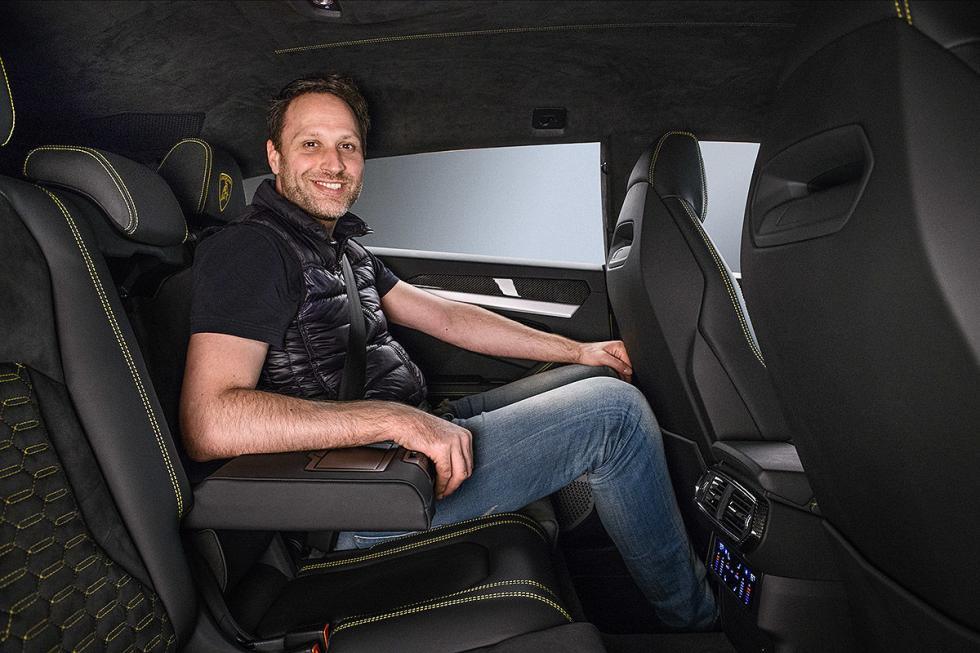 Al volante del Lamborghini Urus