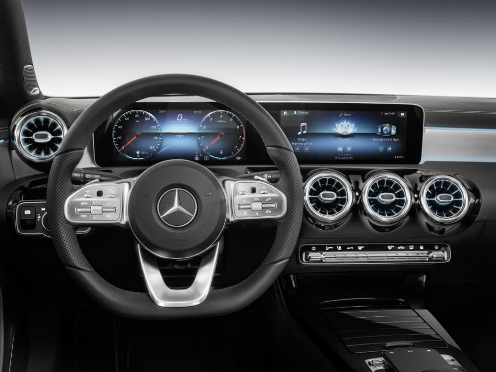 Nuevo sistema de infoentretenimiento del Mercedes Clase A 2018
