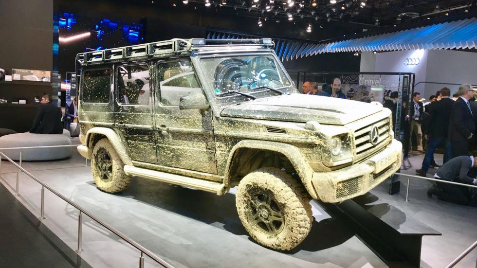 Salón de Detroit 2018: Mercedes Clase G embarrado