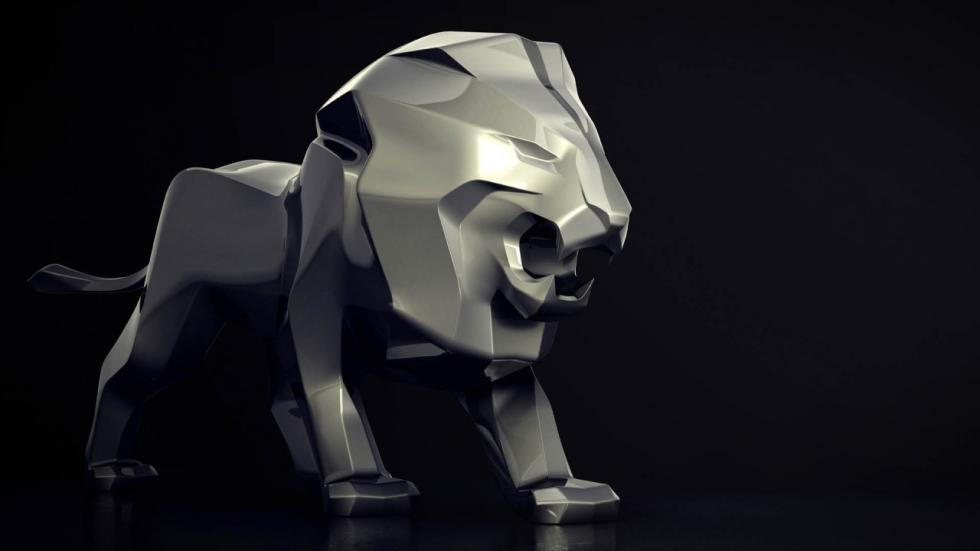 Escultura león Peugeot