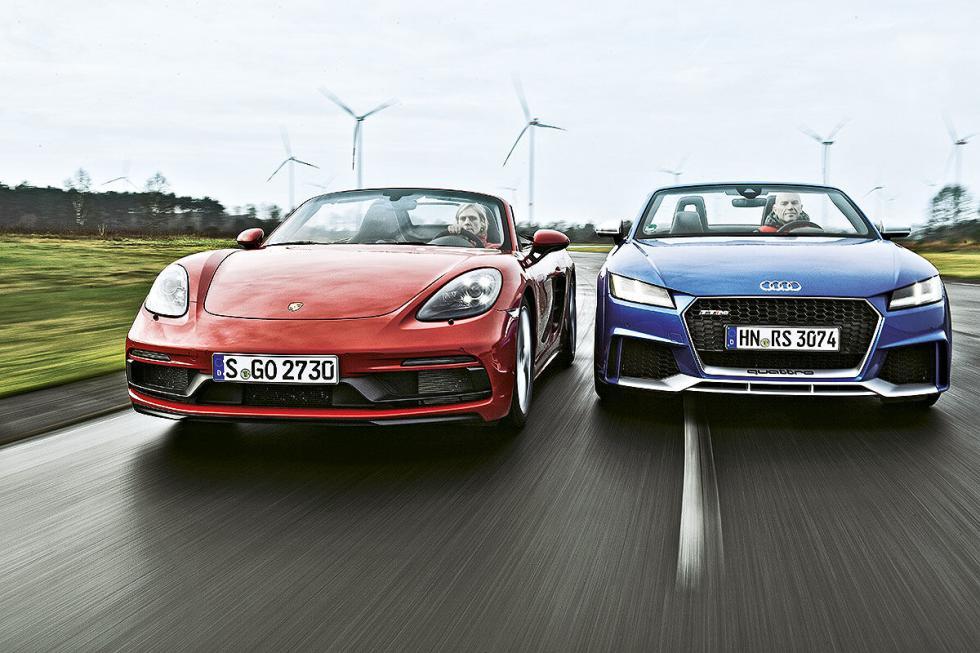 Porsche 718 Boxster GTS vs Audi TT RS