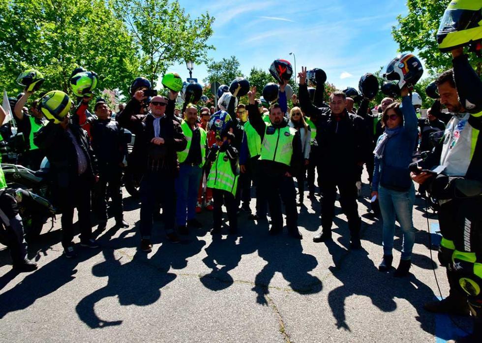 Manifestación moteros 13 de mayo