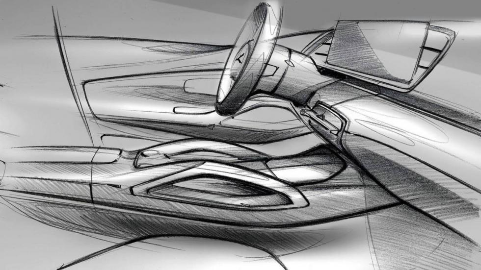 Bocetos interior Mercedes GLE 2019