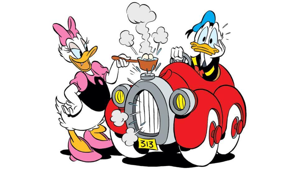 El coche del pato Donald