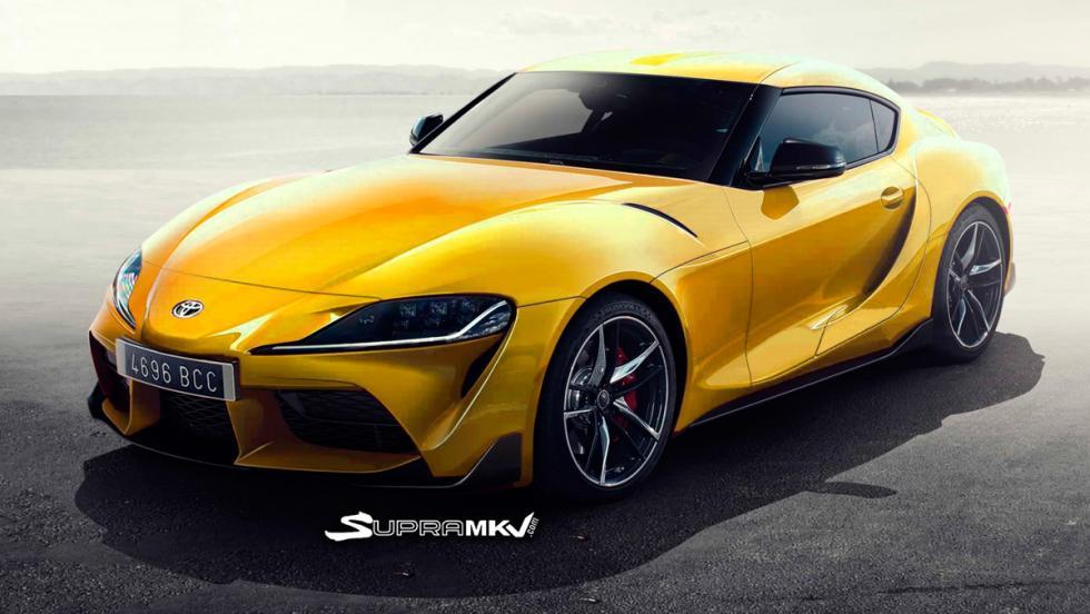 Nuevo Toyota Supra render (amarillo)