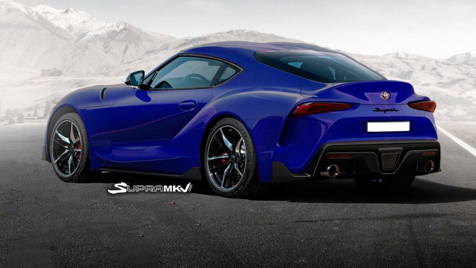 Nuevo Toyota Supra render (azul 2)