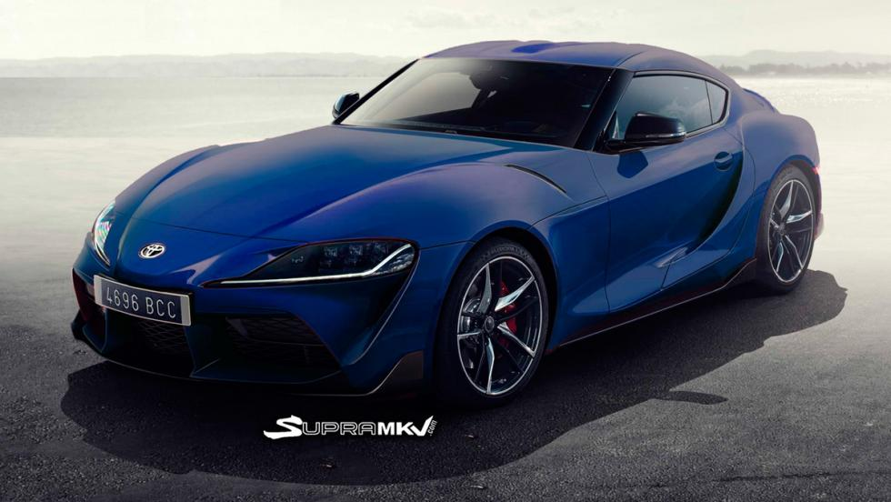 Nuevo Toyota Supra render (azul 3)