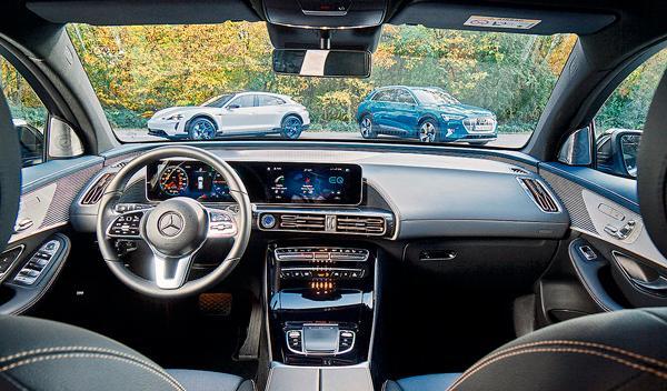 Audi e-tron, Mercedes EQC y Porsche Taycan Cross Turismo