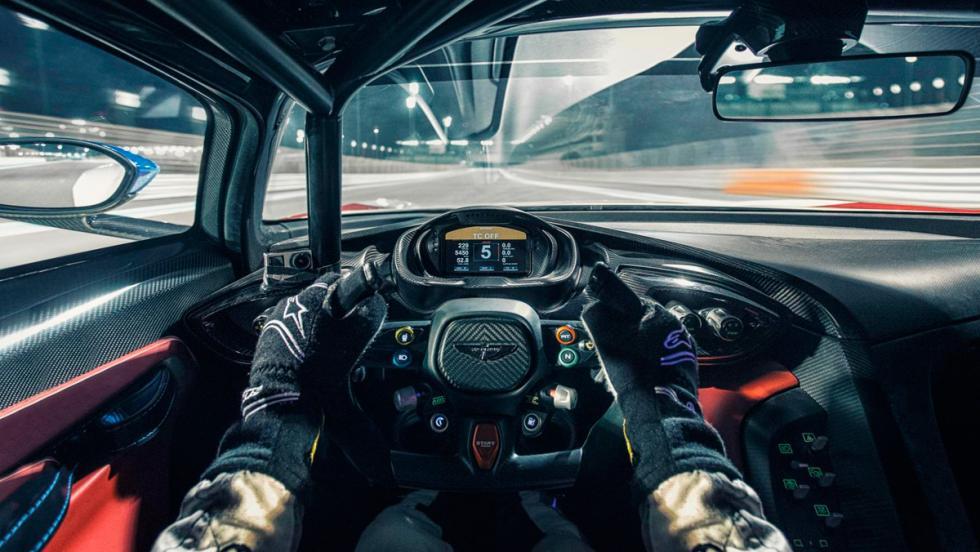 Aston Martin Vulcan, habitáculo