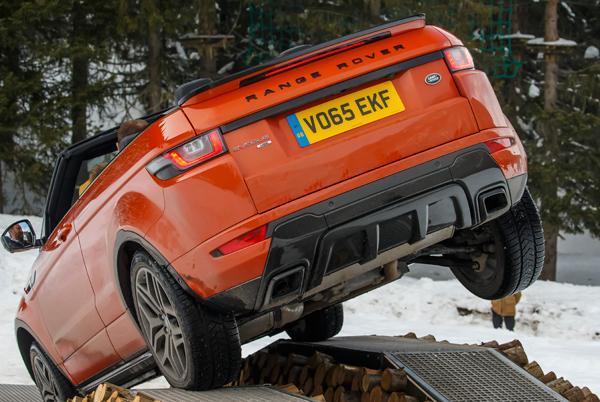 Range Rover Evoque cabrio obstáculos