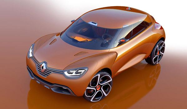 Tres cuartos del Renault Captur