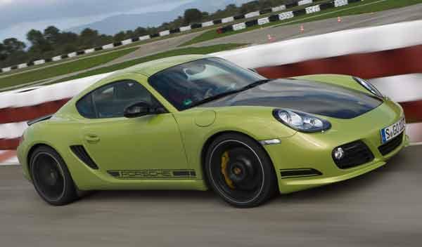 Porsche Cayman R velocidad maxima 330 CV 282 verde