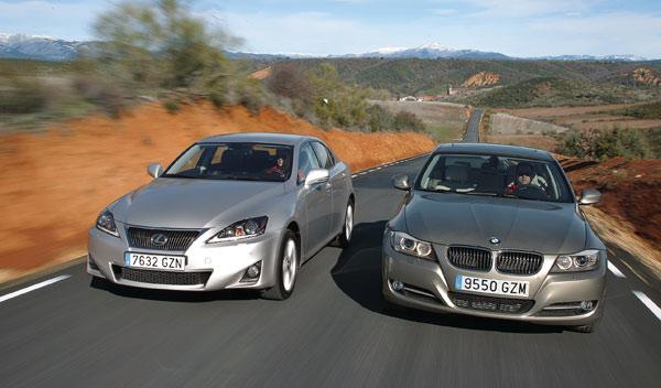 bmw 318d lexus is 200d comparativa cara a cara movimiento diesel berlinas
