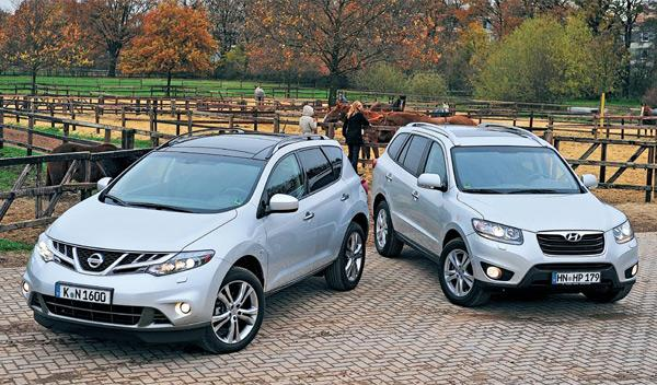 Hyundai Santa Fe Nissan Murano SUV diésel
