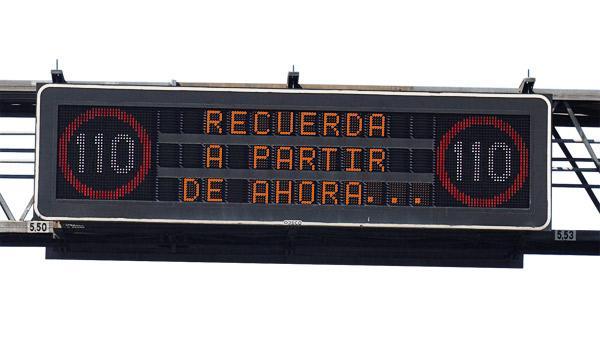 El Gobierno quiere quitar el límite de 110 km/h