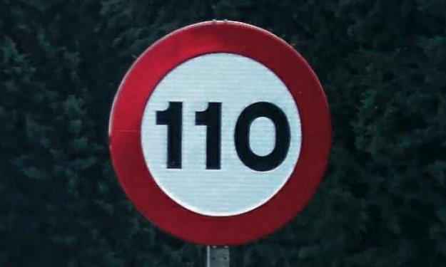 Solo un tercio de los españoles respetaba los 110 km/h