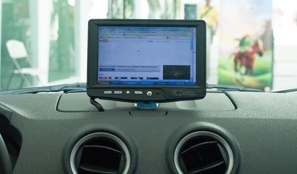 Geek car desde el interior (zona conductor y copiloto)