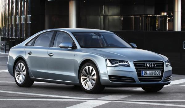 Delantera del Audi A8 hybrid