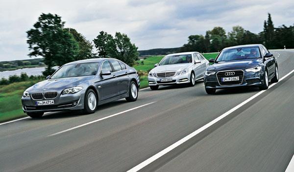 Audi-A6-BMW-52d0-Mercedes-ClaseE-delantera