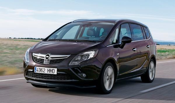 Frontal del Opel Zafira Tourer